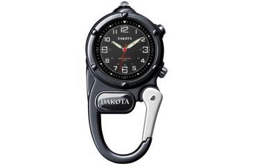Dakota Watches Mini Clip Microlight, Black Dial & Case 3810-6