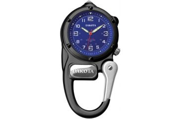 Dakota Watches Mini Clip Microlight, Blue Dial, Black Case 3802-4