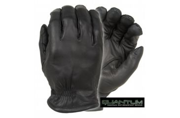 Damascus Protective Gear Q5 Quantum Series Leather Gloves with Cut Resistant Razornet Ultra Liners, Small, Black, Black, Small Q5SM