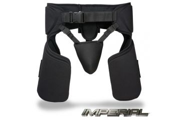 Damascus Protective Gear TG20 Imperial Thigh Groin Protector, Black, Black, 1 size TG20