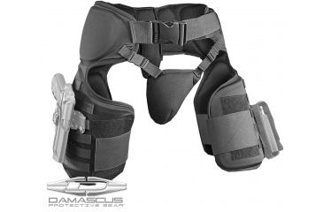 Damascus Protective Gear TG40 IMPERIAL Thigh / Groin Protector with Molle System, Black, 1-size fits all TG40