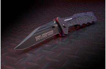 Dark Operations Knives StratoFighter Tactical  Folder w/ TICN Finish, Black DOH115
