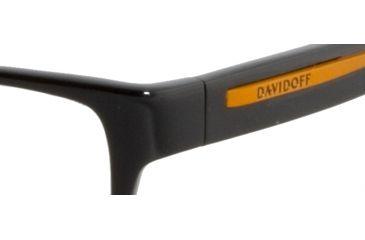 Davidoff 91008 Single Vision Prescription Eyeglasses - Black Frame and Clear Lens 91008-8840SV