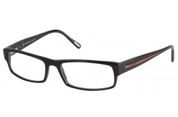 Davidoff 91012 Single Vision Prescription Eyeglasses - Black Frame and Clear Lens 91012-8840SV