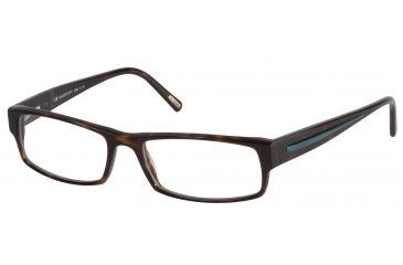 Davidoff 91012 Single Vision Prescription Eyeglasses - Brown Frame and Clear Lens 91012-6091SV
