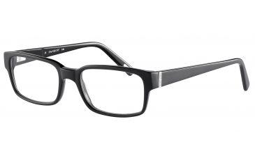 Davidoff 91027 Single Vision Prescription Eyeglasses - Black Frame and Clear Lens 91027-8840SV
