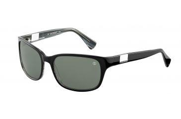 Davidoff No. 97118 Sunglasses - Black Frame and Green Lens 97118-6184