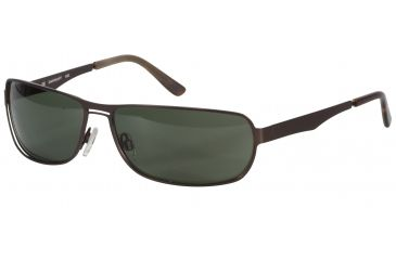 Davidoff 97321 Single Vision Prescription Sunglasses - Brown Frame and Grey Green Lens 97321-507SV