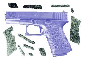 Decal Grip Enhancer For Glock 26 w/Finger Grooves G26FGR