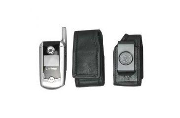 DeSantis Black - E-Z Draw Leather Cellphone Holster L13KJ15Z4
