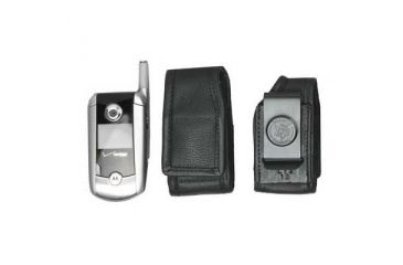 DeSantis Black - E-Z Draw Leather Cellphone Holster L13KJ18Z4