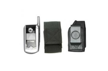 DeSantis Black - E-Z Draw Nylon Cell Phone Holster N13BJG2Z4