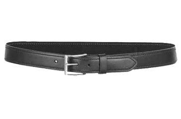 Desantis Plain Black Belt with Nickel Buckle