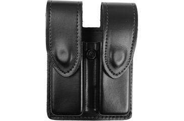 DeSantis Black - Plain - Double Mag Pouch - Hidden Snap U41BJEEZ5