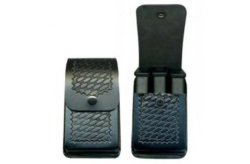 DeSantis Black - Basketweave - Pac-Three Magazine Pouch - Brass Snaps U86BLWWZ2
