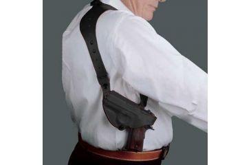 Desantis C.E.O. Shoulder Rig for H&K USP Compact 9mm/40cal, P2000, Right Hand, Black 11ZBAF3Z0