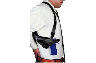 DeSantis New York Undercover Shoulder Rig for SIG P220 R - Plain Lined Black, Left Hand
