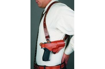 2-DeSantis Right Hand Tan New York Undercover Shoulder Holster w/ Double Mag Pouch 11DTAM8G0 - BERETTA PX4 STORM