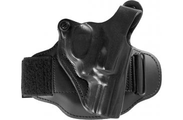 1-DeSantis Right Hand Black Leather Ankle Holster 044BA02Z0 - S&W J 36, 37, 60, 317, 331, 337, 360, 431PD 2 1/4in., M&P 360 2in.; CH/A UNDERCOVER 2in.