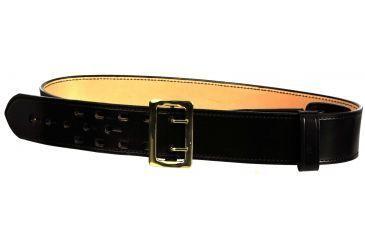 DeSantis Sam Browne Belt - Plain - Leather Lined - 2 1/4in. Wide - Brass Buckle B21BL40Z2 40in.
