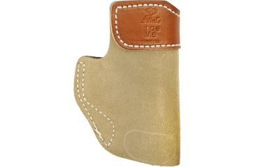 Desantis Sof-Tuck #106 Holster for Kahr Pm45 Natural Suede L Front