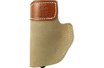 Desantis Sof-Tuck #106 Holster for Kahr Pm45 Natural Suede R Front