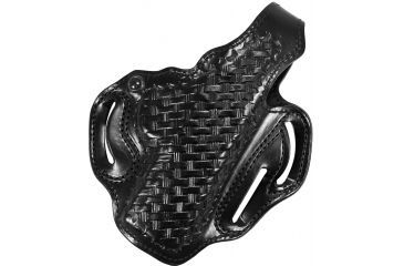 DeSantis Thumb Break Scabbard Holster - Right Hand, Black, Lined, Basketweave, 3 Slot 001BG31Z0 FITS FN HERSTAL FNP-45 4 1/2in.