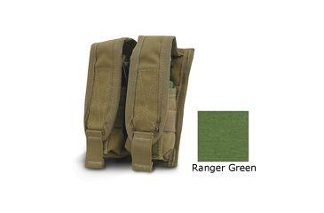 Diamondback Tactical 40 mm Double Flashbang Pouch, Ranger Green, A-BLPM20-2-RANGERGREEN