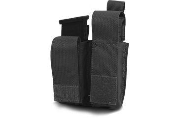 Diamondback Tactical Double Universal Pistol Mag Pouch, Black, A-BLPM08-9-BLACK