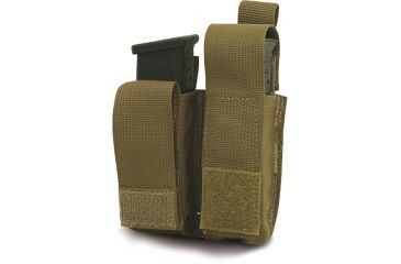 Diamondback Tactical Double Universal Pistol Mag Pouch, Coyote, A-BLPM08-9-COYOTE