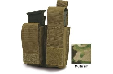 Diamondback Tactical Double Universal Pistol Mag Pouch, Multicam, A-BLPM08-9-MULTICAM