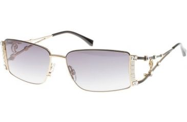 Diva 4143 Sunglasses - Black-Gold; Grey Gradient Lenses (789)