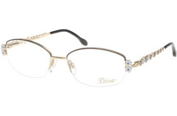 d0ee35141dc Diva 5285 Eyewear - Anthracite-Blue  Sapphire Crystal Stones (841)
