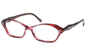 Diva 5383 Eyeglasses - Rose-Burgundy Frame w/ Clear Lenses 5383-C.06T