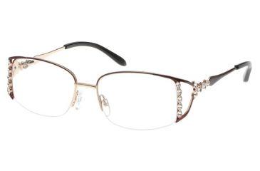 707cdc6be9 Diva 5401 Eyeglasses - Indian Red-Gold Frame w  Clear Lenses 5401-123