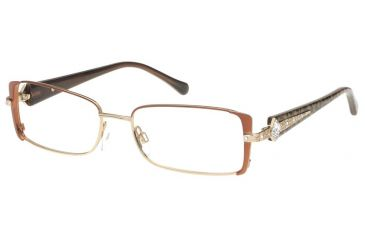 Diva Womens 5346  Eyeglasses - Brown-Leopard Frame w/ Clear Lenses, Size 52-16-130 5346-820E