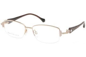 Diva Womens 5355  Eyeglasses - Gold-Brown-Leopard Frame w/ Clear Lenses, Size 52-18-129 5355-L22