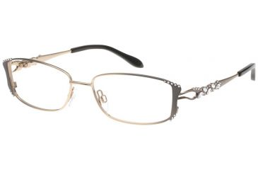 Diva Womens 5358  Eyeglasses - Brown Fade-Gold Frame w/ Clear Lenses, Size 52-15-122 5358-820