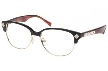 Diva Womens 5360 Eyeglasses - Redbrown-Gold Frame w/ Clear Lenses, Size 53-15-141 5360-P13