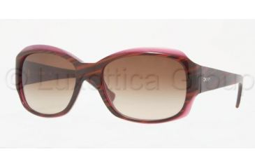 DKNY DY4048 Single Vision Prescription Sunglasses DY4048-342413-5517 - Lens Diameter: 55 mm, Frame Color: Striped Brown / Violet