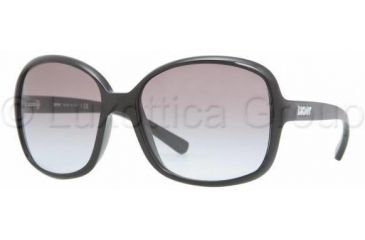 DKNY DY4076 Single Vision Prescription Sunglasses DY4076-329011-5816 - Frame Color: Black, Lens Diameter: 58 mm