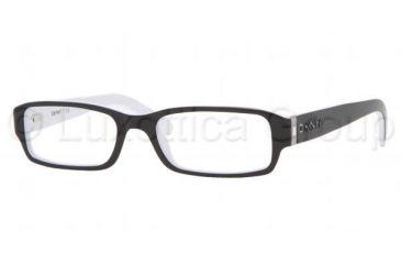 DKNY DY 4585B Eyeglasses Styles Black-White Frame w/Non-Rx 50 mm Diameter Lenses, 3386-5017, DKNY DY 4585B Eyeglasses Styles Black-White Frame w/Non-Rx 50 mm Diameter Lenses