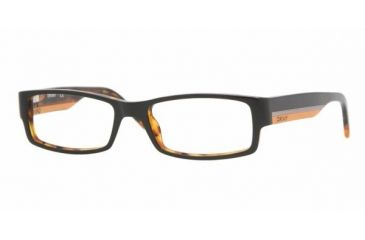 DKNY DY 4602 Eyeglasses w/ Top Black/Havana Frame and Non-Rx 51 mm Diameter Lenses, 3428-5117