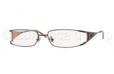 DKNY DY 5555 Eyeglasses Styles -  Matte Black Frame w/Non-Rx 51 mm Diameter Lenses, 1004-5117