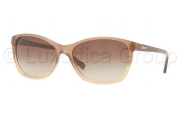DKNY DY4093 Sunglasses 357013-5617 - Honey Frame, Brown Gradient Lenses