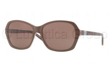 DKNY DY4094 Sunglasses 357173-5716 - Top Brown on Brown Transparent Frame, Brown Lenses