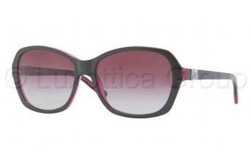 DKNY DY4094 Bifocal Prescription Sunglasses DY4094-35734Q-5716 - Lens Diameter 57 mm, Frame Color Top Black on Violet Transparent