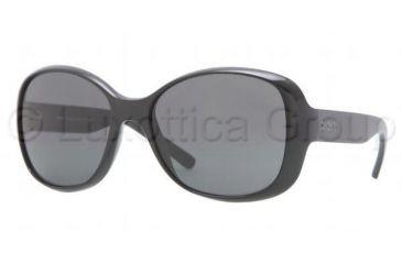 DKNY DY4102 Single Vision Prescription Sunglasses DY4102-300187-5717 - Lens Diameter 57 mm, Frame Color Black Grey