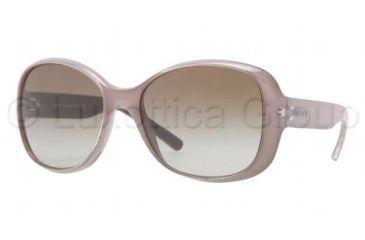 DKNY DY4102 Single Vision Prescription Sunglasses DY4102-358613-5717 - Lens Diameter 57 mm, Frame Color Peral Gray