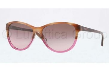 DKNY DY4104 Bifocal Prescription Sunglasses DY4104-357614-5715 - Lens Diameter 57 mm, Frame Color Brown Horn
